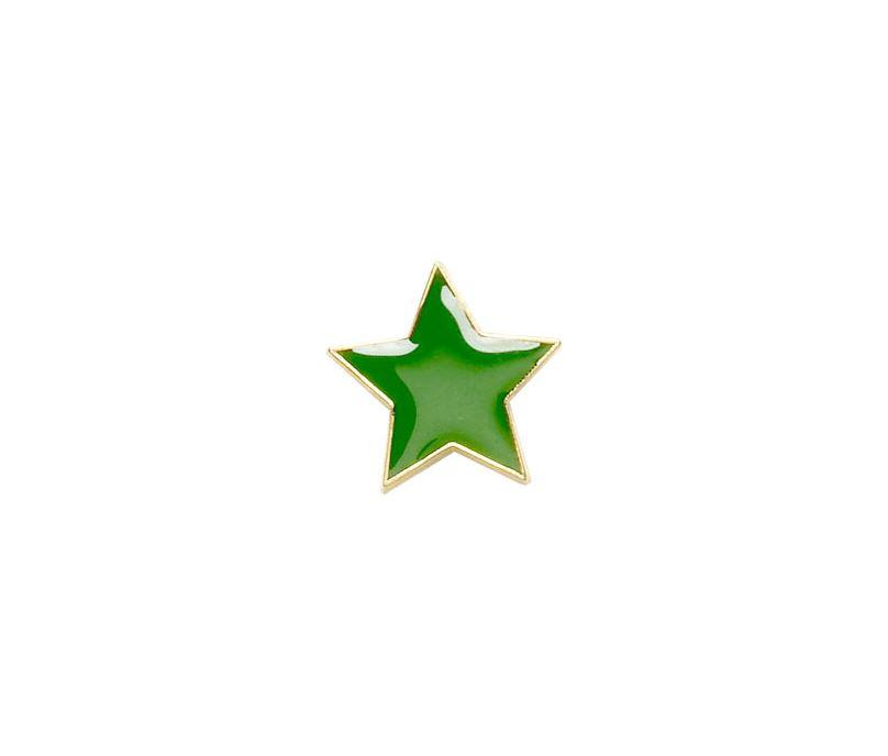 Green Star Shaped Lapel Badge 20mm