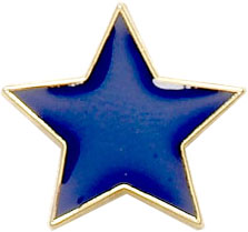 Blue Star Shaped Lapel Badge 20mm