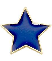 Blue Star Shaped Lapel Badge 20mm