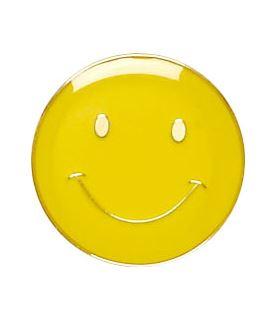 Yellow Happy Face Lapel Badge 20mm