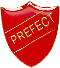 Prefect Shield Badge Red 22mm x 25mm