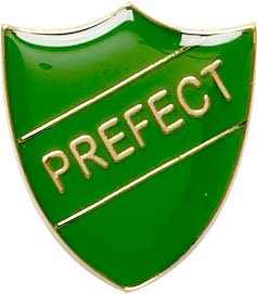 Prefect Shield Badge Green 22mm x 25mm