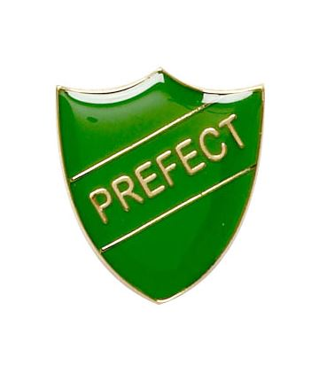 Prefect Shield Badge Green 22mm x 25mm
