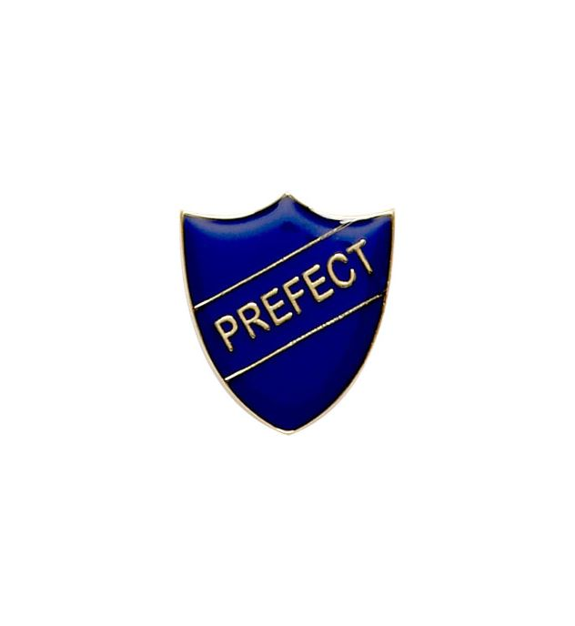 Prefect Shield Badge Blue 22mm x 25mm