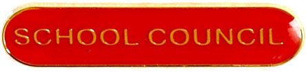 School Council Lapel Bar Badge Red 40mm x 8mm
