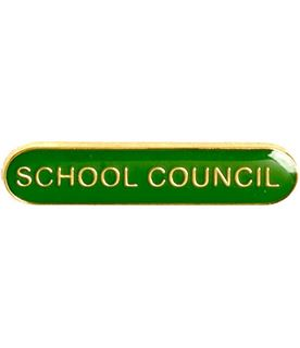 School Council Lapel Bar Badge Green 40mm x 8mm