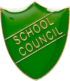 School Council Shield Badge Green 22mm x 25mm