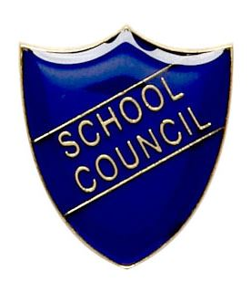School Council Shield Badge Blue 22mm x 25mm