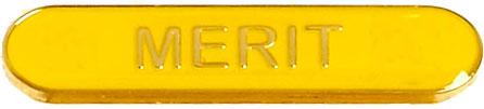 Merit Lapel Bar Badge Yellow 40mm x 8mm