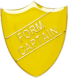 Form Captain Shield Badge Yellow 22mm x 25mm