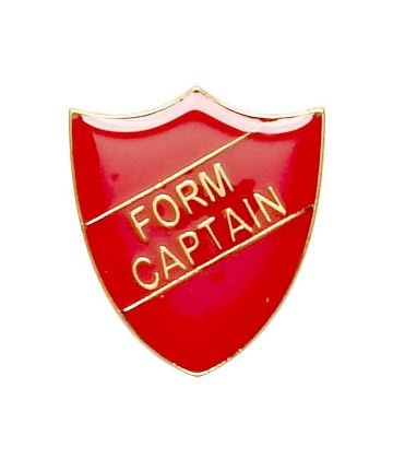 Form Captain Shield Badge Red 22mm x 25mm