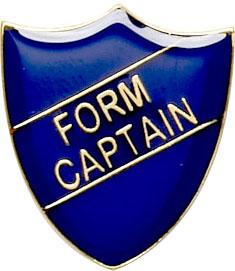 Form Captain Shield Badge Blue 22mm x 25mm