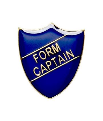 Form Captain Shield Badge Blue 22mm x 25mm
