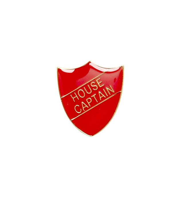 House Captain Shield Badge Red 22mm x 25mm