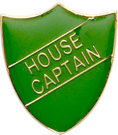 House Captain Shield Badge Green 22mm x 25mm