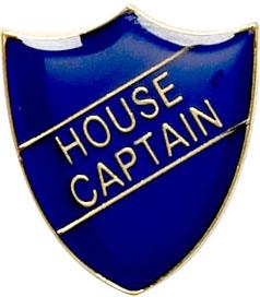 House Captain Shield Badge Blue 22mm x 25mm