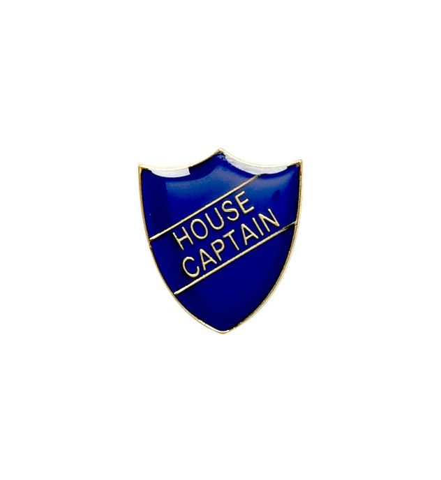 House Captain Shield Badge Blue 22mm x 25mm