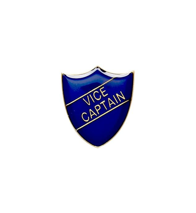 Vice Captain Shield Badge Blue 22mm x 25mm