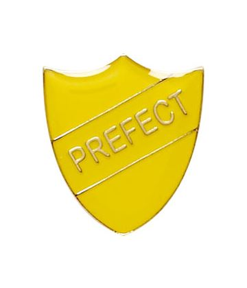 Prefect Shield Badge Yellow 22mm x 25mm