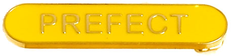 Prefect Lapel Bar Badge Yellow 40mm x 8mm