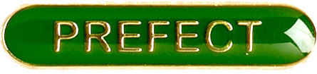 Prefect Lapel Bar Badge Green 40mm x 8mm