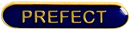 Prefect Lapel Bar Badge Blue 40mm x 8mm