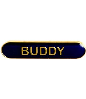 Buddy Lapel Bar Badge Blue 40mm x 8mm