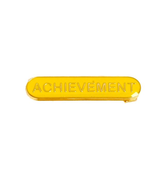 Achievement Lapel Bar Badge Yellow 40mm x 8mm