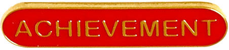 Achievement Lapel Bar Badge Red 40mm x 8mm