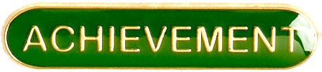 Achievement Lapel Bar Badge Green 40mm x 8mm