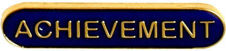 Achievement Lapel Bar Badge Blue 40mm x 8mm