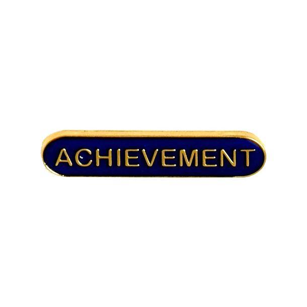 Achievement Lapel Bar Badge Blue 40mm x 8mm