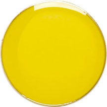 Yellow Round Lapel Badge 20mm