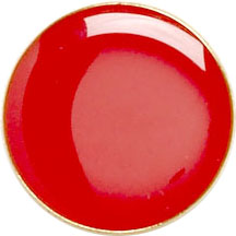 Red Round Lapel Badge 20mm