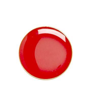 Red Round Lapel Badge 20mm