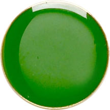 Green Round Lapel Badge 20mm