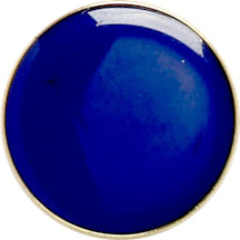 Blue Round Lapel Badge 20mm