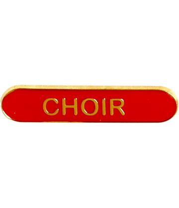 Choir Lapel Bar Badge Red 40mm x 8mm