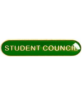 Student Council Lapel Bar Badge Green 40mm x 8mm