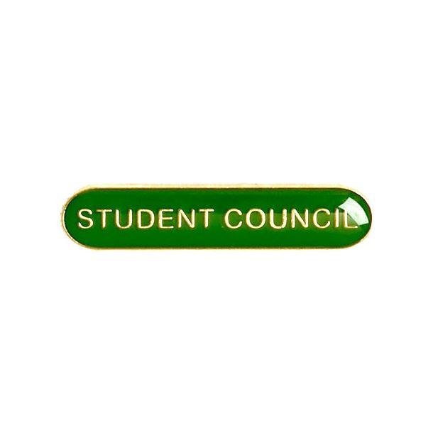 Student Council Lapel Bar Badge Green 40mm x 8mm