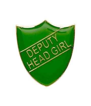 Deputy Head Girl Shield Badge Green 22mm x 25mm