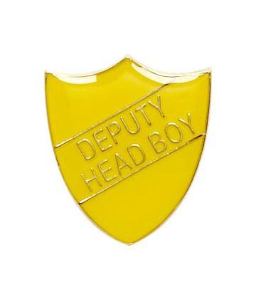 Deputy Head Boy Shield Badge Yellow 22mm x 25mm