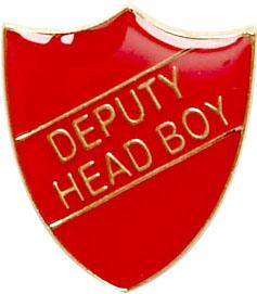 Deputy Head Boy Shield Badge Red 22mm x 25mm