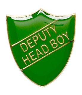 Deputy Head Boy Shield Badge Green 22mm x 25mm