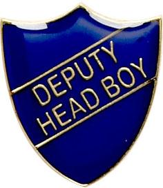 Deputy Head Boy Shield Badge Blue 22mm x 25mm
