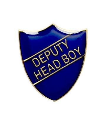 Deputy Head Boy Shield Badge Blue 22mm x 25mm