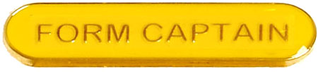 Form Captain Lapel Bar Badge Yellow 40mm x 8mm