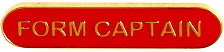Form Captain Lapel Bar Badge Red 40mm x 8mm