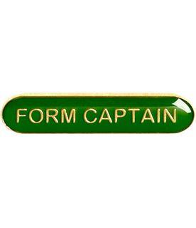 Form Captain Lapel Bar Badge Green 40mm x 8mm