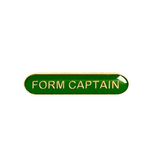 Form Captain Lapel Bar Badge Green 40mm x 8mm